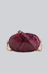 Drexcode - Marsupio clutch pitonato bordeaux - AM - Vendita - 2
