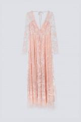 Drexcode - Abito rosa in pizzo con doppia scollatura - Needle&Thread - Noleggio - 1