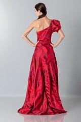 Drexcode - Abito rosso monospalla con manica a sbuffo - Vivienne Westwood - Vendita - 3