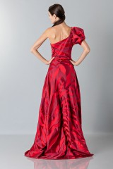 Drexcode - Abito rosso monospalla con manica a sbuffo - Vivienne Westwood - Noleggio - 3