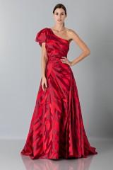 Drexcode - Abito rosso monospalla con manica a sbuffo - Vivienne Westwood - Noleggio - 2
