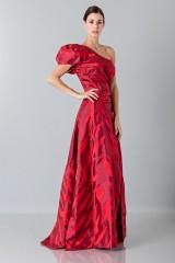 Drexcode - Abito rosso monospalla con manica a sbuffo - Vivienne Westwood - Vendita - 4