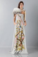 Drexcode - Bustier grigio in lana con applique a tema floreale - Alberta Ferretti - Vendita - 4