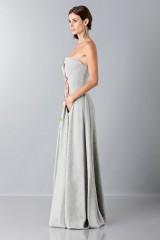 Drexcode - Bustier grigio in lana con applique a tema floreale - Alberta Ferretti - Vendita - 6