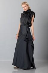 Drexcode - Gonna nera con drappeggio anteriore - Albino - Vendita - 3