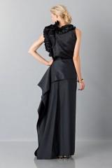 Drexcode - Gonna nera con drappeggio anteriore - Albino - Vendita - 5