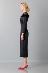 Drexcode - Jumpsuit nera longuette con pizzo off shoulder - Blumarine - Vendita - 4