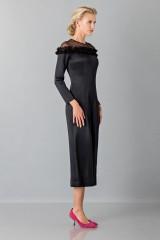 Drexcode - Jumpsuit nera longuette con pizzo off shoulder - Blumarine - Noleggio - 3