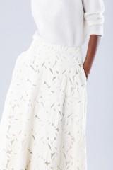 Drexcode - Completo bianco con gonna e maglione in cachemire - Paule Ka - Vendita - 4