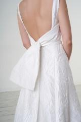 Drexcode - Abito da sposa asimmetrico con fiocco posteriore - Peter Langner - Noleggio - 2