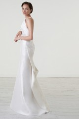 Drexcode - Abito da sposa in magnolia di seta con scollatura asimmetrica - Peter Langner  - Noleggio - 3