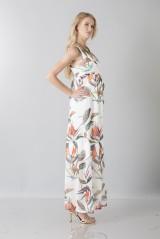 Drexcode - Abito bianco maternity con fantasia floreale - Pietro Brunelli - Noleggio - 3