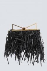 Drexcode - Clutch nera con frange - Sara Battaglia - Vendita - 1