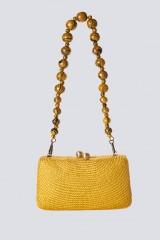 Drexcode - Clutch gialla in paglia - Serpui - Noleggio - 2