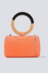 Drexcode - Clutch arancione  con manico bicromatico - Serpui - Noleggio - 2