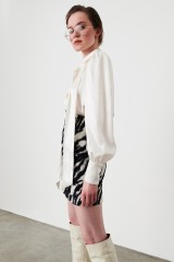Drexcode - Camicia bianca in seta con fiocco - Redemption - Vendita - 6