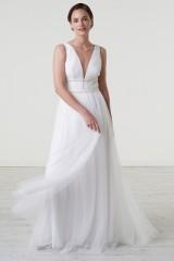 Drexcode - Abito da sposa con cinture di perline - Theia - Noleggio - 2