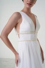Drexcode - Abito da sposa con cinture di perline - Theia - Noleggio - 5