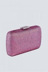 Drexcode - Clutch piatta rosa con strass - Anna Cecere - Vendita - 5