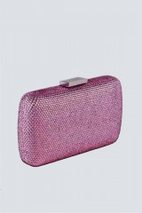 Drexcode - Clutch piatta rosa con strass - Anna Cecere - Noleggio - 5