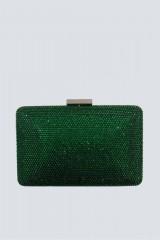 Drexcode - Clutch piatta verde con strass - Anna Cecere - Vendita - 4