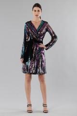 Drexcode - Wrap dress con paillettes mullticolori - DREX for you - Vendita - 4