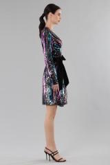 Drexcode - Wrap dress con paillettes mullticolori - DREX for you - Vendita - 5
