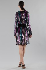 Drexcode - Wrap dress con paillettes mullticolori - DREX for you - Vendita - 3