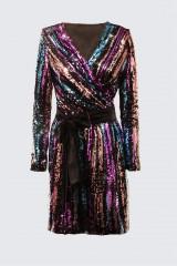 Drexcode - Wrap dress con paillettes mullticolori - DREX for you - Vendita - 7