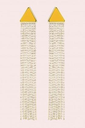 Orecchini pendenti in strass e resina - Sharra Pagano - Vendita Drexcode - 1