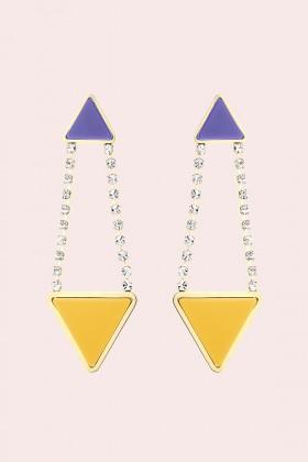 Orecchini triangolo in strass e resina - Sharra Pagano - Vendita Drexcode - 1