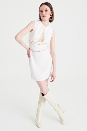 Abito corto bianco con scollo profondo - Kathy Heyndels - Vendita Drexcode - 1