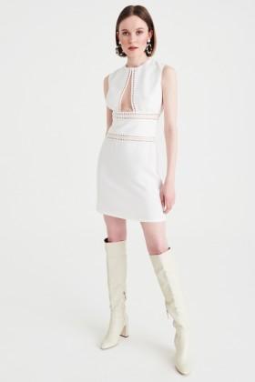 Abito corto bianco con scollo profondo - Kathy Heyndels - Noleggio Drexcode - 2