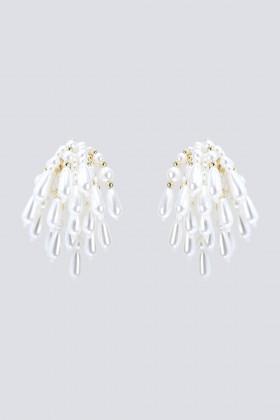Orecchini in ottone placcato oro, con cascata di perle in resina - CA&LOU - Noleggio Drexcode - 1