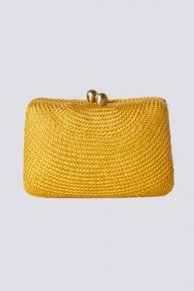 Clutch gialla in paglia - Serpui - Vendita Drexcode - 2