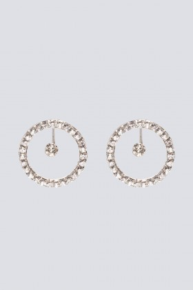 Orecchini a cerchio con cristalli - CA&LOU - Noleggio Drexcode - 2