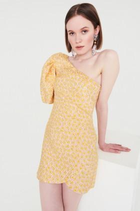 Abito monospalla fantasia micro fiori - Valentina Nervi - Vendita Drexcode - 2