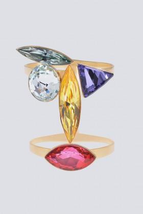 Bracciale dorato con cristalli multicolor - CA&LOU - Vendita Drexcode - 1