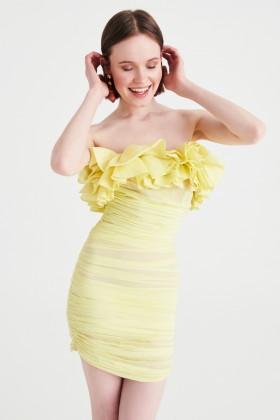 Mini abito aderente con ruches - Valentina Nervi - Vendita Drexcode - 1