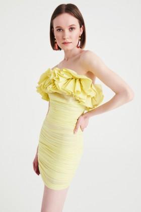 Mini abito aderente con ruches - Valentina Nervi - Vendita Drexcode - 2