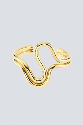 Bracciale in metallo dorato - Sharra Pagano - Noleggio Drexcode - 1
