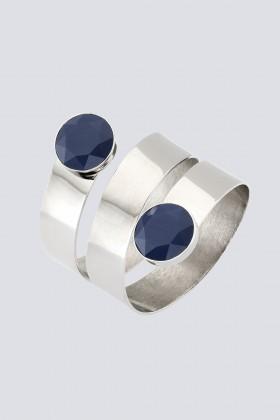 Bracciale in metallo e vetro - Sharra Pagano - Noleggio Drexcode - 1
