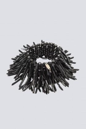 Bracciale nero in vetro e cristalli - Sharra Pagano - Vendita Drexcode - 1