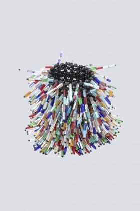Bracciale multicolor in vetro e cristalli - Sharra Pagano - Noleggio Drexcode - 2