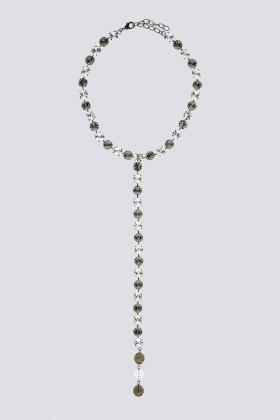 Collana pendente in strass e metallo - Sharra Pagano - Vendita Drexcode - 1