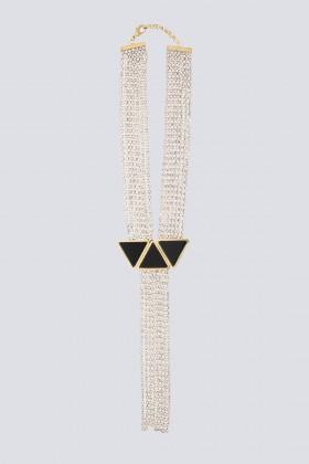 Collana pendente in strass e resina - Sharra Pagano - Noleggio Drexcode - 1