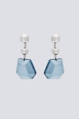 Orecchini pendenti in ottone e resina - Sharra Pagano - Vendita Drexcode - 1