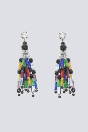 Orecchini multicolor in vetro e cristalli - Sharra Pagano - Noleggio Drexcode - 1