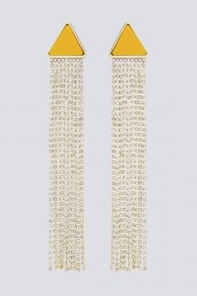 Orecchini pendenti in strass e resina - Sharra Pagano - Noleggio Drexcode - 1