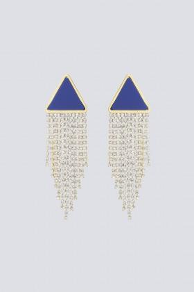 Orecchini triangolo in strass e resina - Sharra Pagano - Vendita Drexcode - 2